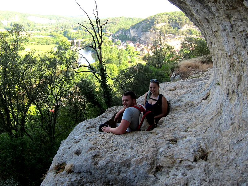Walking Dordogne Prehistoric bath